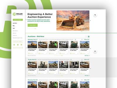 Auction Website green lime complex app ux ui web design web