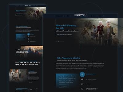 TW Website dark blue website design web design web financial clean dark