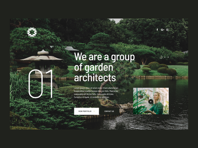 Garden Architect — website exterior typo minimalist green gardener garden architect web ui design visiontrust olbromski