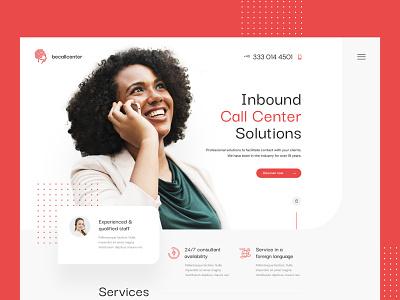 Call Centre  — Website homepage consultant inbound center call theme wp website landing minimalist web ui design visiontrust olbromski