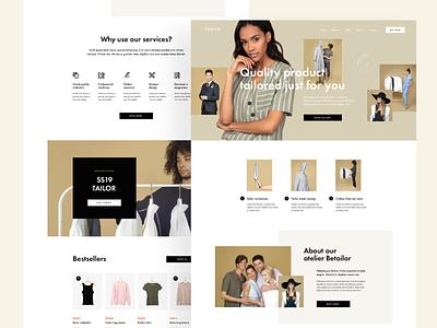 Tailoring - Website beige clothes tailoring tailor fashion website landing minimalist web ui design visiontrust olbromski