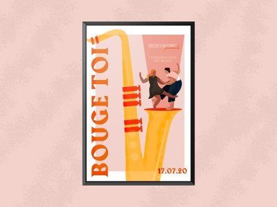 Bouge Toi parisian culture music illustrator festival poster festival move dance vector illustration vector illustration graphic design design affinity designer affinity poster poster challenge poster art poster design