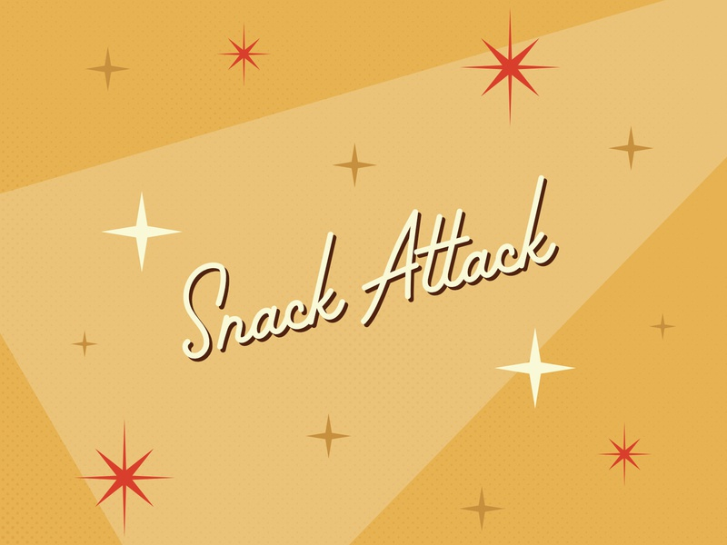 Snack Attack Series design typographic hoodfonts palm canyon drive 1960s retrodesign 1950s retro typography design typogaphy graphic design affinity designer affinity