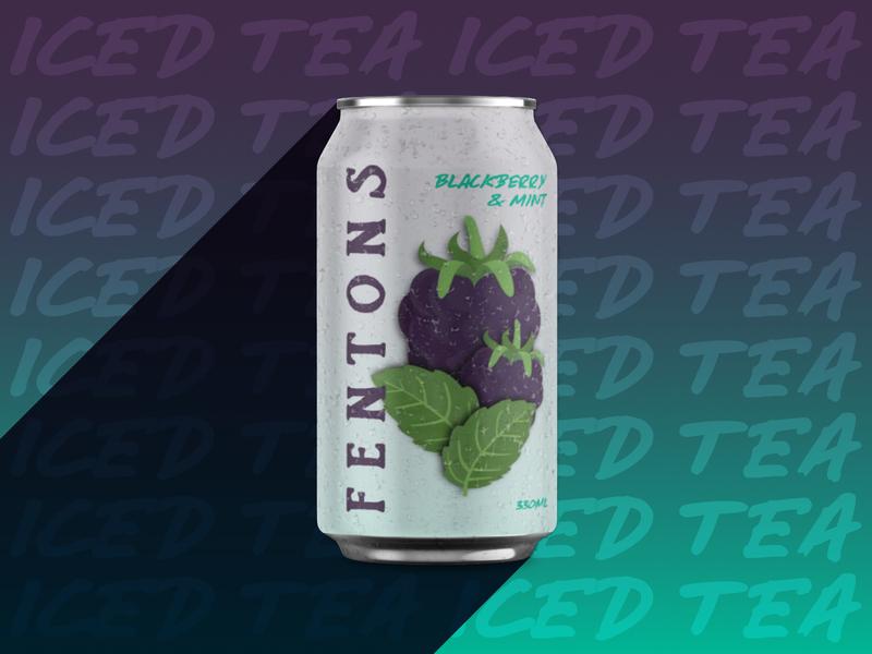 Fentons typography illustraion mint blackberry concept packaging concept branding design keep it brief packaging mockup mockup fentons iced tea packaging design packaging graphic design affinity designer affinity