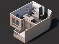 Mini Home home house architecture isometric illustration isometric art isometric cinema4d cinema 3d animation 3d artist 3d art 3d illustration icon clean design app