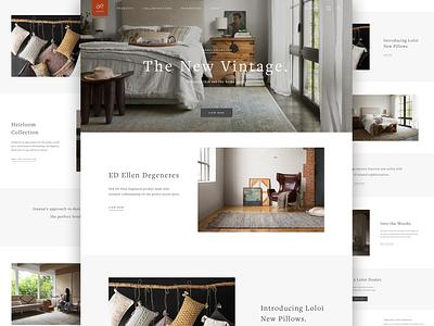 Loloi Website mobile modern photography engine digital layout landing page agency app responsive typogaphy development branding web design webdesign website