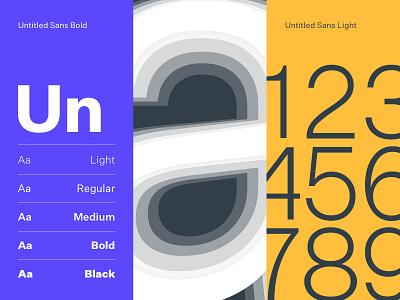 Untitled Sans Specimen animation ui swiss minimal clean app font brand typography typeface type art specimen print logo layout identity engine digital digital design