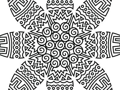 Sunflower Details print line drawing illustration sunflower