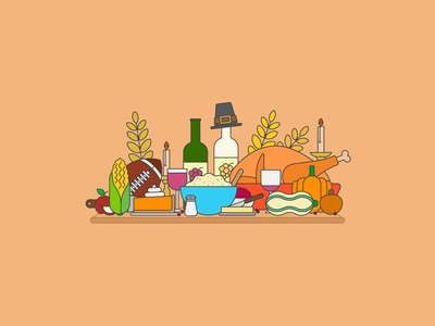 Flat Earth: Thanksgiving cranberry sauce pumpkin pie turkey thanksgiving clean design simple illustration simple design vector illustration icon design icon set illustration illustrator vector design icons flat illustration flat design