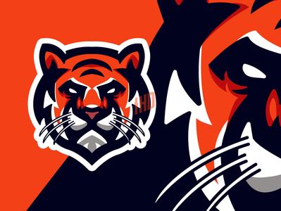 Head Tiger Logo mascot collection set club fauna emblem aggression art wildcat tiger mascot tiger logo tiger eagle esports draw esports character eagle logo animals logo owl logo logo badge symbol