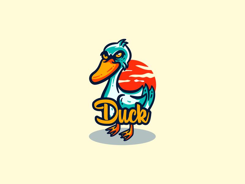 Duck Illustration For Custom logo tiger illustration animals owl logo badge logo eagle logo owl logo duck esports duck illustration duck logo duck