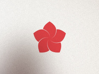 Rate of Convergence red vector geometry flower spiral logo
