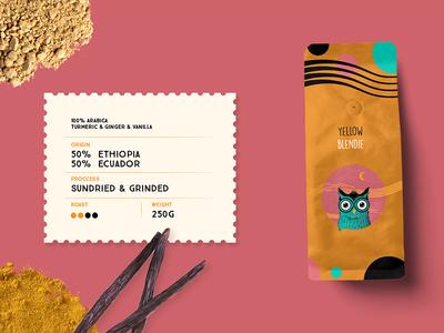 Owlie Coffee Packaging colorful branding design coffee packaging coffee logo coffee shop visual identity brand identity illustration design packaging mockup product design packaging branding vector owl logo coffee
