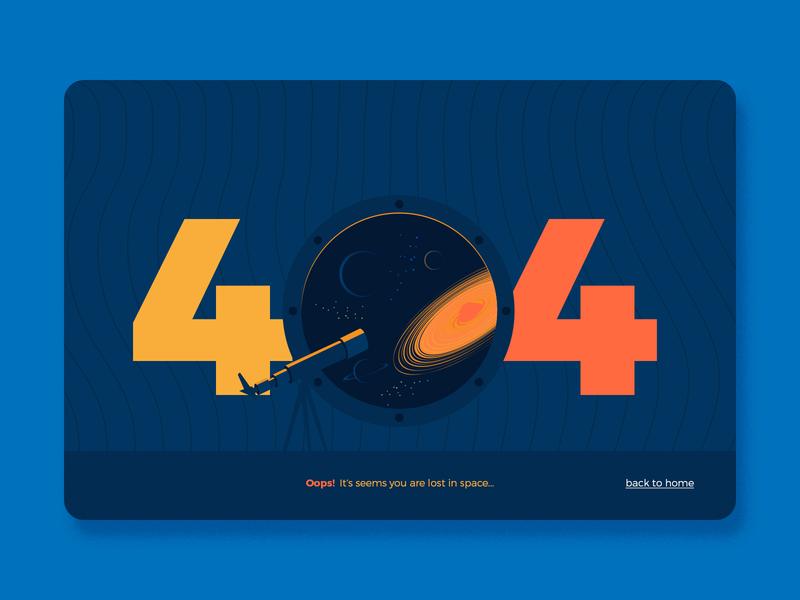 404 Page Error web illustration web page design website web spaceship planets space cosmic cosmos ui vector illustration flat landingpage webdesign page design error 404 404page