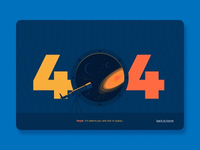 404 Page Error web illustration web page design website web spaceship planets space cosmic cosmos ui vector illustration flat landingpage webdesign page design error 404 404page