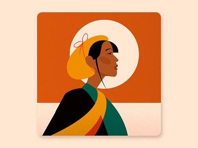 Women's History Month - Illustrated design girl portrait portrait illustration women talenthouse award winning illustration art girl illustration girl character african woman african girl illustrated girl vector women in illustration womens day illustration