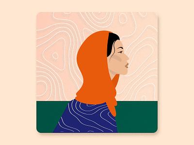 Women's History Month -  Female activist pattern talenthouse colorful history woman activist women activist award winning female character portrait girl female vector illustration pakistan