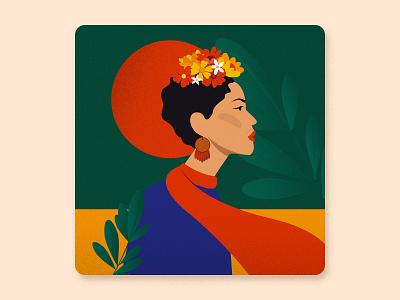 Women's History Month - Frida Kahlo digital artist digital art illustration digital female character talenthouse illustrator artist portrait women girl vector frida kahlo frida female illustration painter