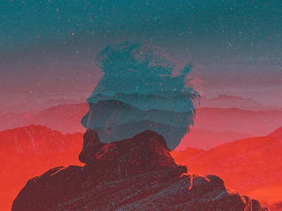 Semblance double exposure multiple exposure meditation mountains photoshop adobe edit photo portrait photography superimposition