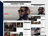 RIT University News Homepage Redesign   Web Design