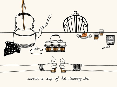 Chai/CHI/ - Tea | Infographic illustration how to make chai tea tea india recipe infographic chai