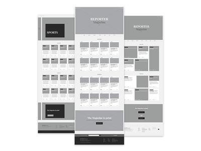 Reporter Wireframes | Website Redesign