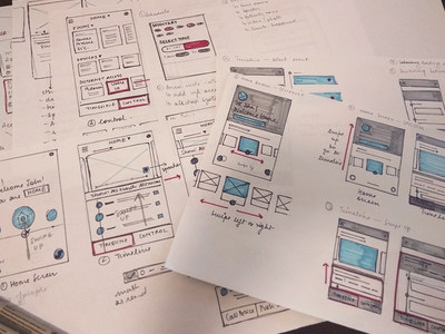 UI and motion Sketches smart home ui sketches app