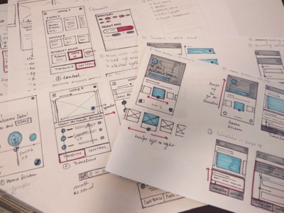 UI and motion Sketches