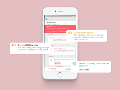 Events timeline events smarthome security interaction uiux