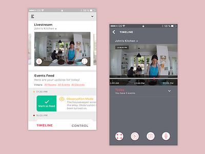Live Stream - Nest Smarthome App live-stream smarthome security interaction uiux nest