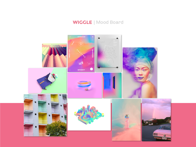 Wiggle moodboard