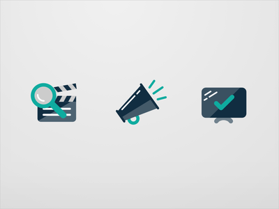 Reelgood V2 Icons color flat illustration ios app movies icons