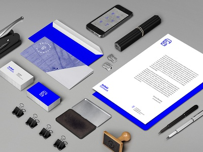 Enfield Brand Materials contract geometry blue graphik word mark logo form concrete construction identity brand
