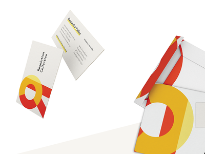 Resolution Collective Cards & Envelopes geometric graphic design identity envelops brand business cards
