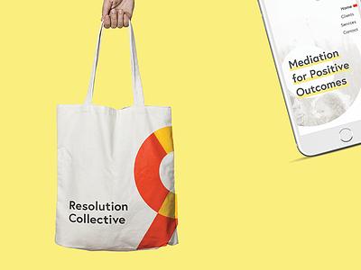 Resolution Collective Brand Collateral identity tote ui mobile design graphic design branding brand