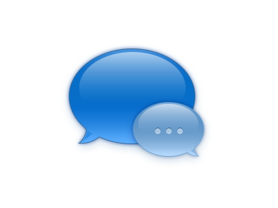 Chat Icon icon chat blue ios mac