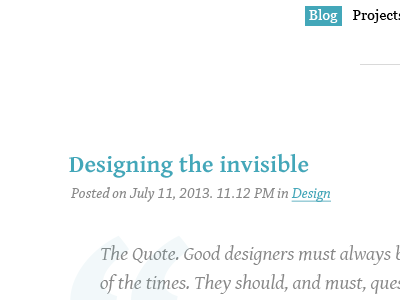 Something I'm cooking up. typography serifs ux ui simple minimalistic clean personal blog