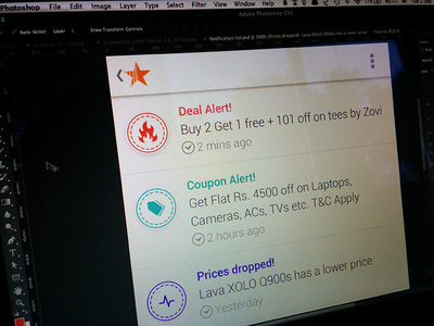 Notifications - Scandid for Android android product list app ui user interface wip ux