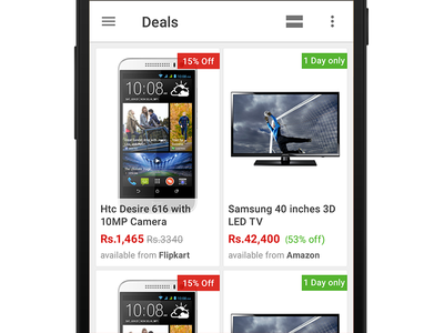 Deals Grid list product ecommerce app grid ux ui android
