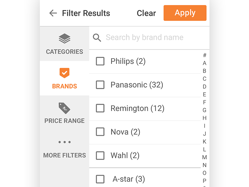Scandid - Filters filters interaction design ui ux android