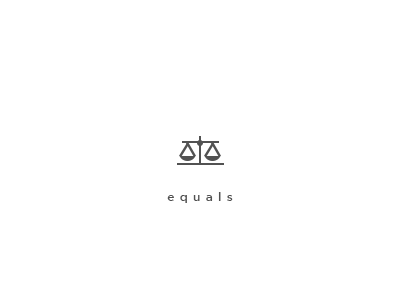 Equals glyph icon monoicon