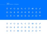 Basic Icons set