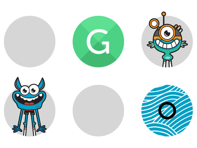 GoNoodle Poster poster shape circles letters monster creature character dots