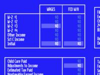 Taxes program circa 1993