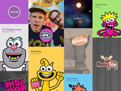 Early mobile exploration for GoNoodle children kids monster character videos ipad mobile