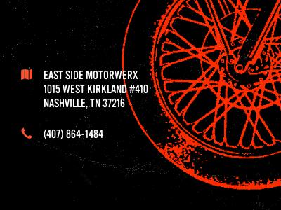 Esmw Location icons wheel motorcycle illustration location address phone contact