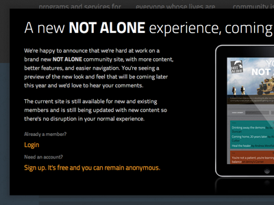 Coming soon modal modal overlay ipad css log in sign up