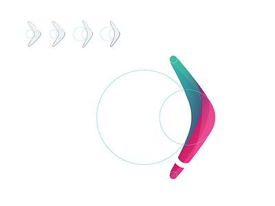 Boomerang Logo boomerang colorful identity logo