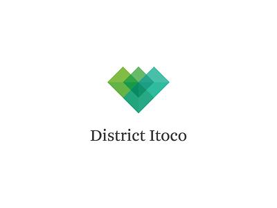 District Itoco - Logo diamond district itoco identity brand logo
