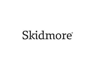 Skidmore - Custom Wordmark typeface custom font font custom s logo wordmark